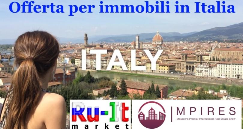 Offerta per immobili in Italia per trovare i clienti russi.